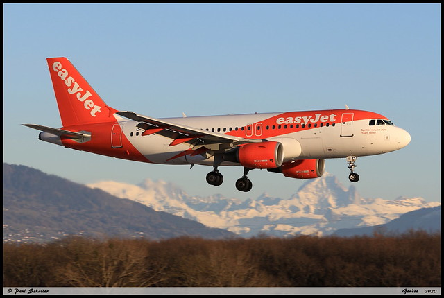 AIRBUS A319 111 easyJet G-EZII 2471 Genève février 2020