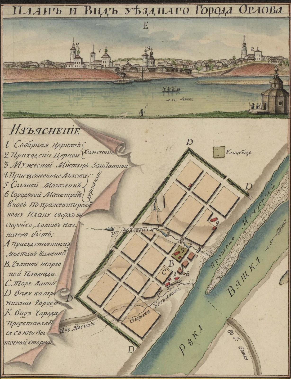 Генеральная карта Вятской губернии с планами и видами городов. 1806 - Copy (9)