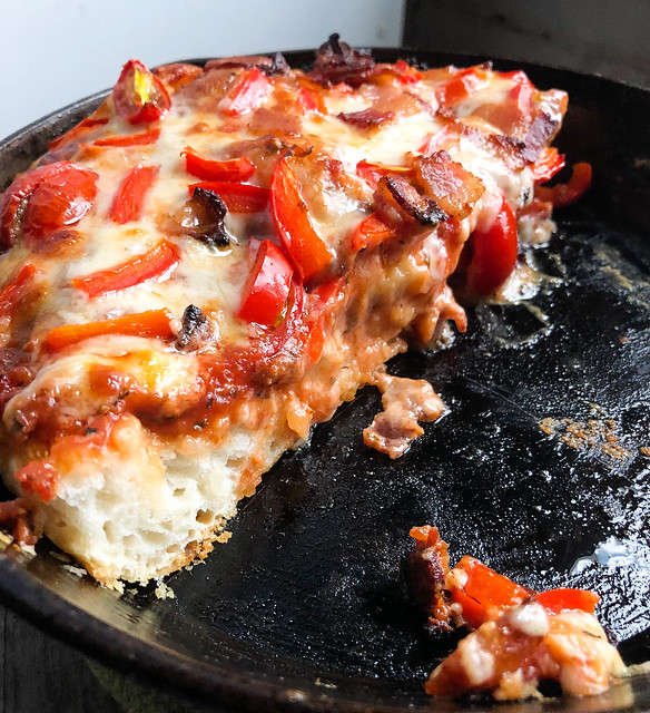 Suzie The Foodie's Cast Iron Deep Dish Pizza