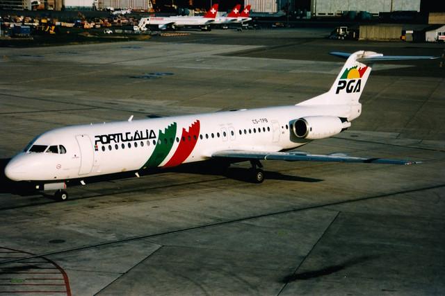PGA Portugalia Airlines | Fokker 100 | CS-TPB | Zurich Kloten