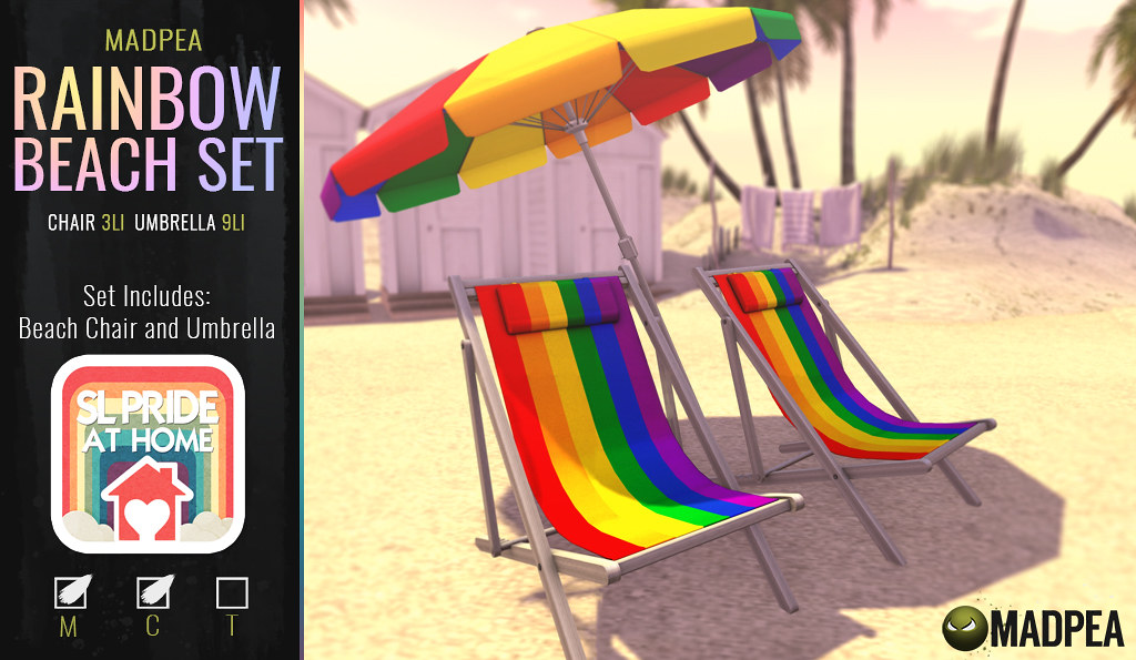 MadPea Rainbow Beach Set with SL Pride At Home!