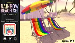 MadPea Rainbow Beach Set with SL Pride At Home!
