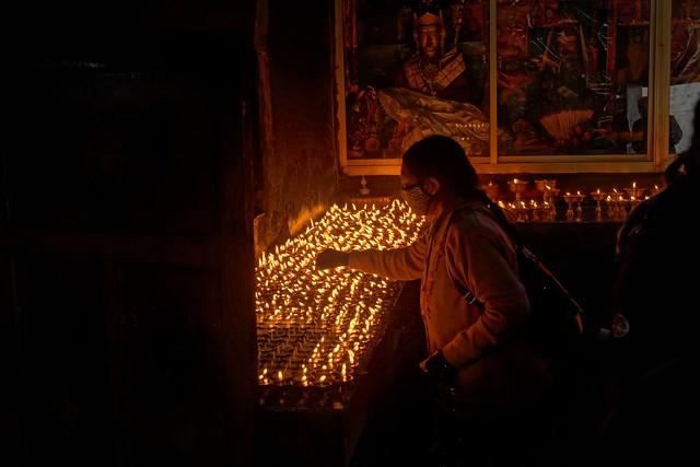 Yak butter lamps, Tibet 2019