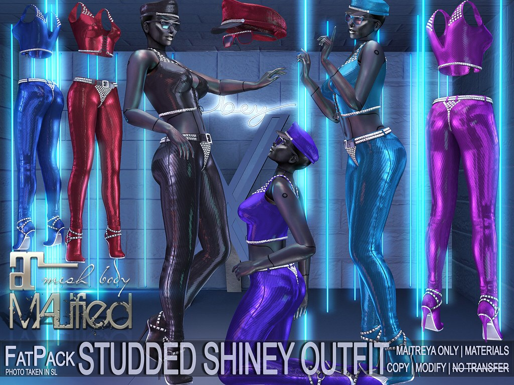 MALified – Studded Shiney Outfits – FatPack