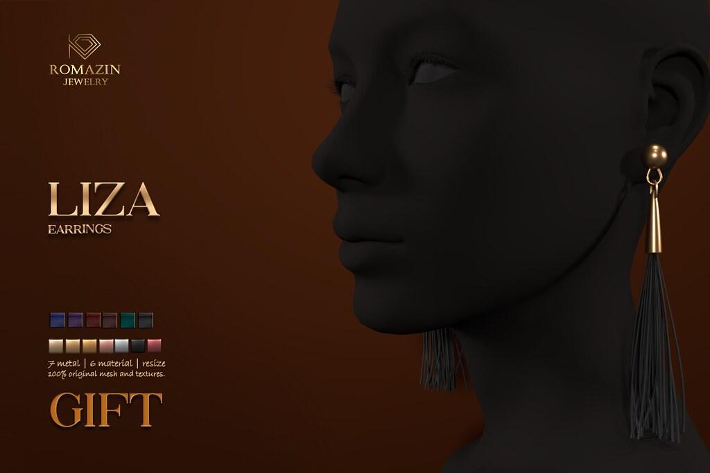 Romazin – Earrings <Liza>, GIFT
