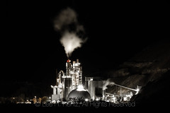 Ash Grove Cement Plant at Night