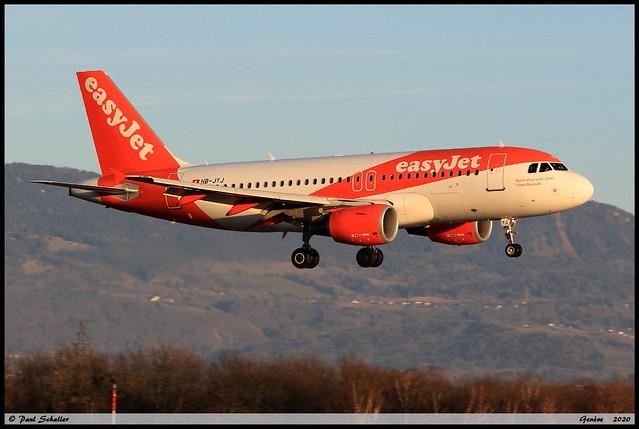 AIRBUS A319 111 easyJet HB-JYJ 4717 Genève février 2020