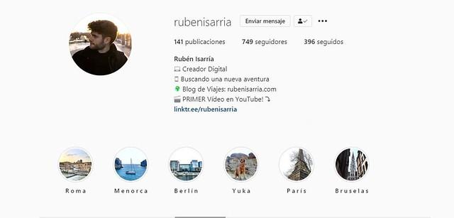 Captura Instagram de Rubén Isarría.