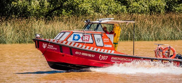 2020 - Argentina - Buenos Aires - Paraná Delta - Tigre Municipio Emergencias Boat