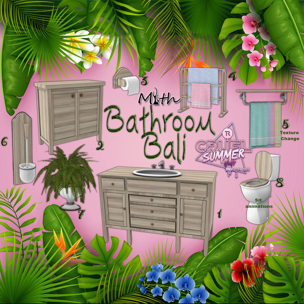 "Bathroom ""Bali"" for Cruel Summer Hunt"