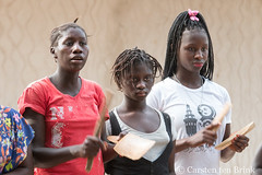 Diola mythology - village women percussion