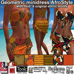 Geometric minidress AfroStyle with hud