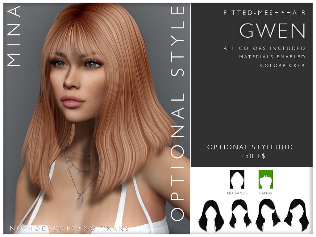 MINA Hair – Gwen3 @ FaMESHed