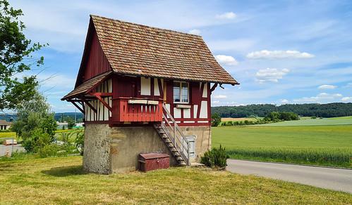 switzerland cantonofzurich fachwerkhaus landscape 2020 may clouds house stadel