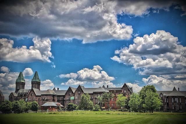 Buffalo NY ~ Winter ~ Buffalo State Asylum for the Insane  ~ Film 1990's Scan - Now a Hotel