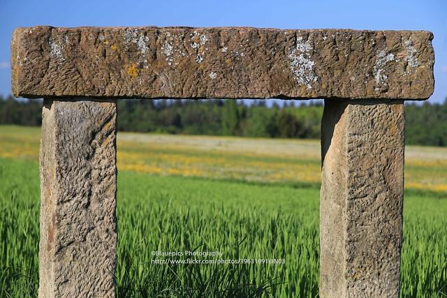 Hohengehren, Rainwiesen, stone bench