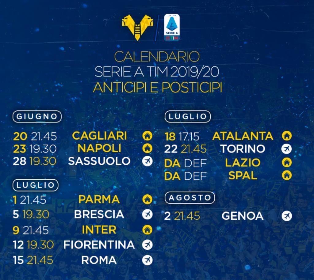 Il Calendario Dell Hellas Verona Hellas Live