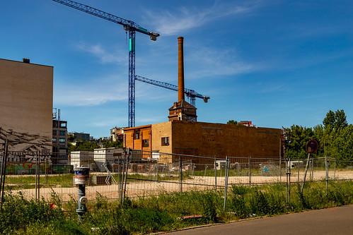 Ruine der Eisfabrik in der Köpenicker Straße in Berlin-Mitte