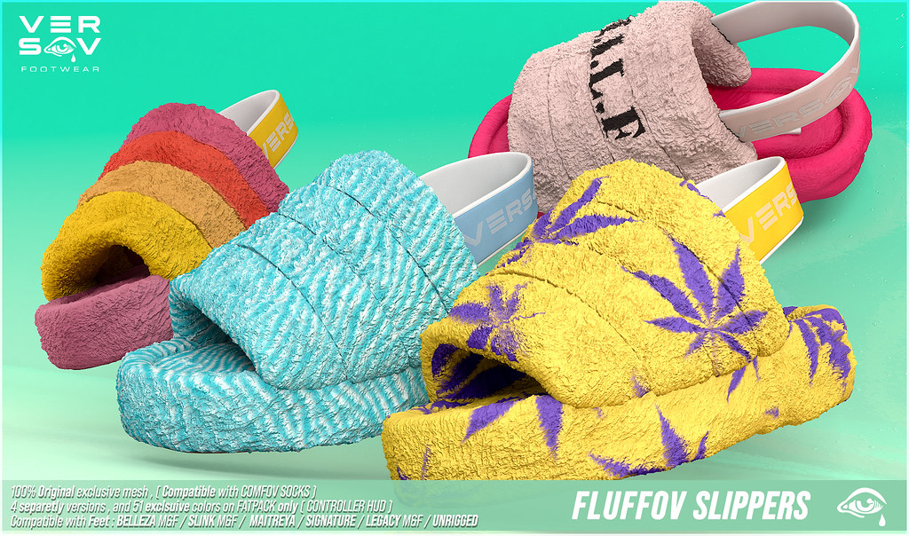 [ Versov //​ ] FLUFFOV SLIPERS available at LEVEL EVENT
