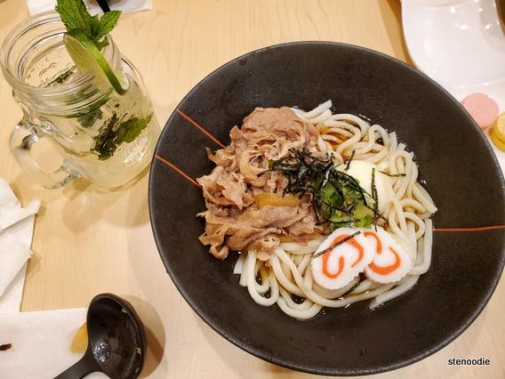 meal at Udon Kitanoya
