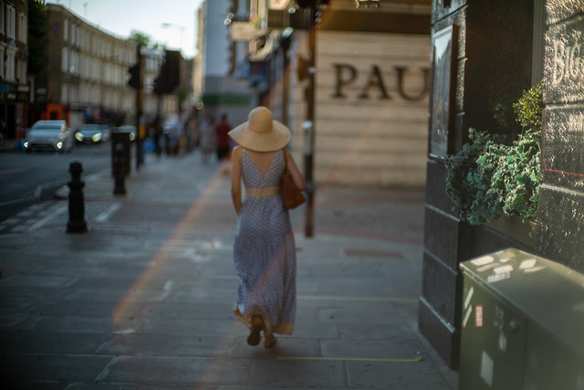 An evening walk in London Early Summer.