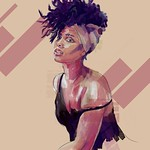 Alicia Keys Art Portrait