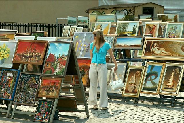 Girl with Street Art