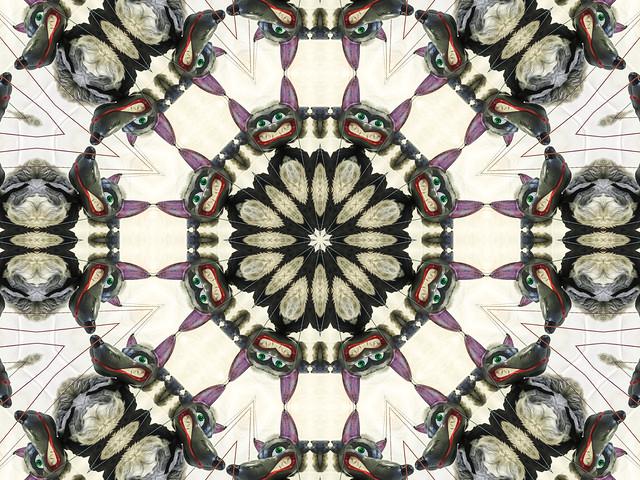 kaleidoscopic wolf marionette