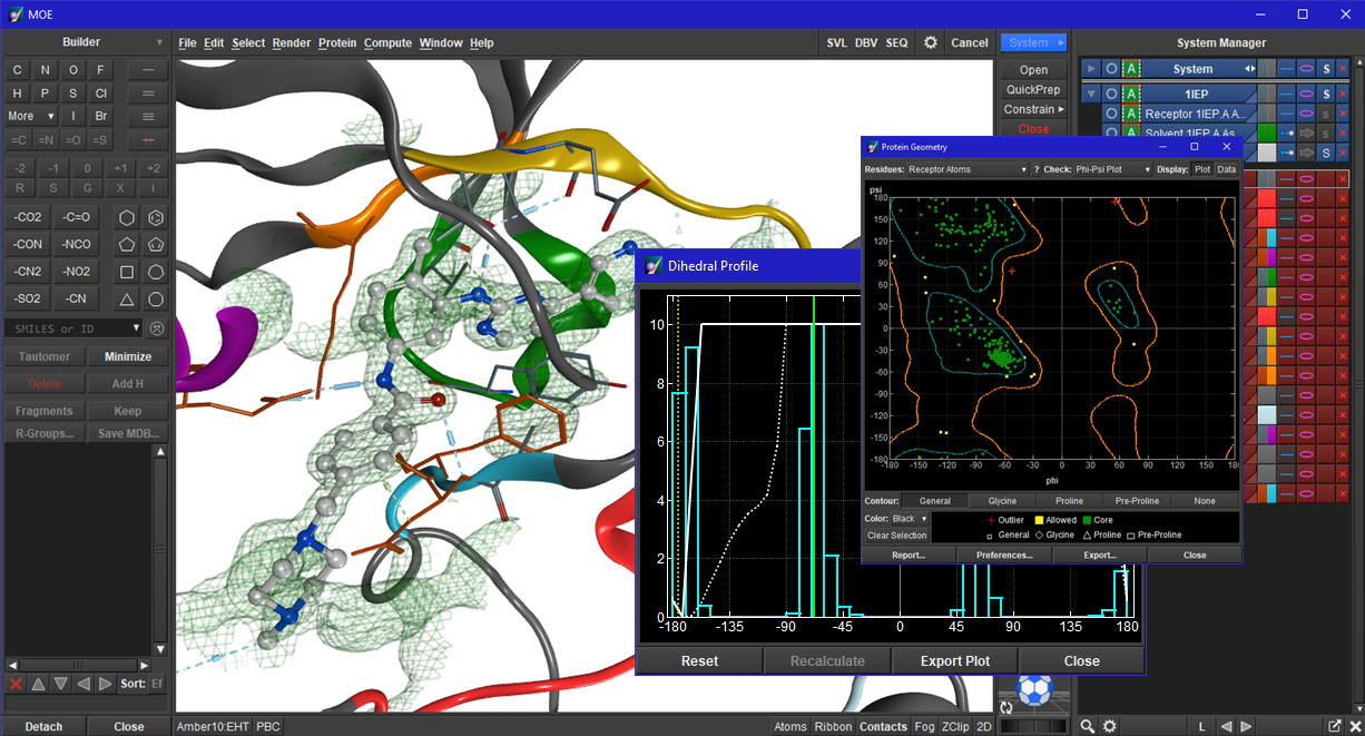 Working with Molecular Operating Environment (MOE) 2015.10 full license