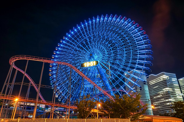 Cosmo Clock 21 (Ferris Wheel), Yokohama at Night : コスモクロック21
