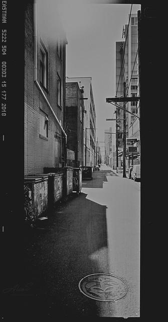 Alleyway Vancouver - Film Hasselblad