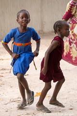 Diola children - when the dancing starts
