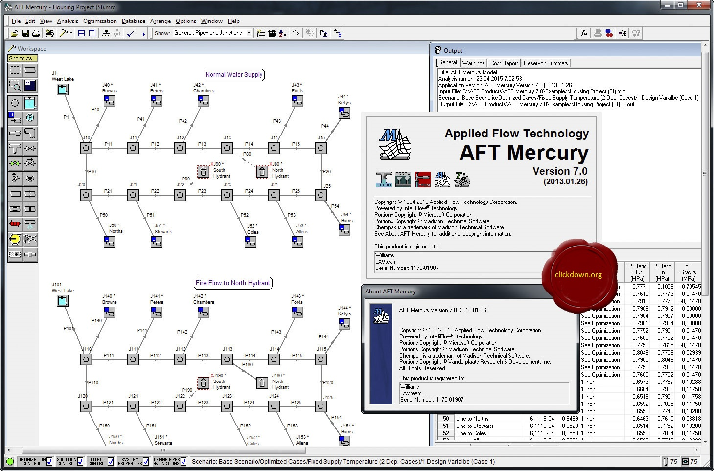 Working with AFT Mercury 7.0 full license