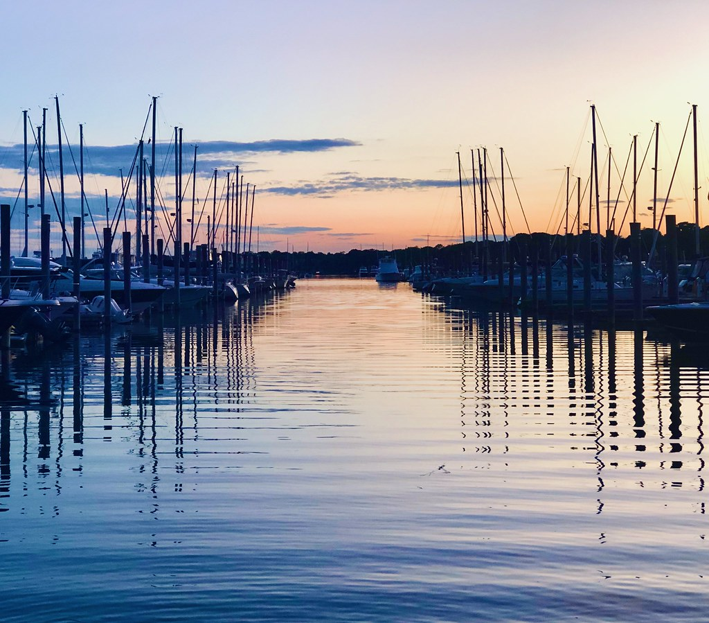 Dockside Branford during golden hour. Beautiful area. Really enjoyed it here 😍😍😍