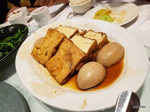 Chiu Chow style marinated tofu and marinated egg