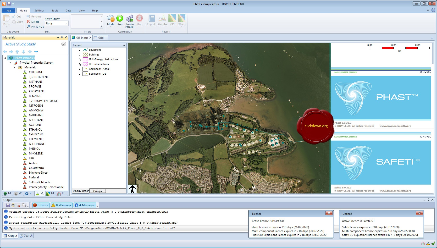 Working with DNV GL AS Phast Safety 8.0.33.0 full license