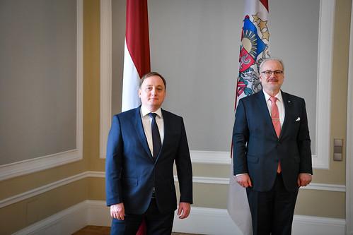 02.06.2020. Valsts prezidents Egils Levits tiekas ar Latvijas Bankas prezidentu Mārtiņu Kazāku