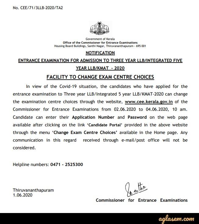 Kerala LLB 3 Year 2020 Application Form Kerala LLB 3 Year 2020 Application Form