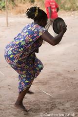 Diola women - when the dancing starts