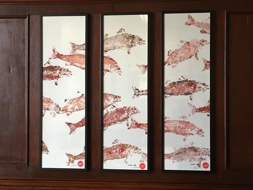 Gyotaku Fish Print, Llandudno Dylan's