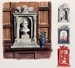 Haunted Mansion magic bust concept art