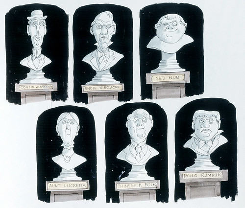 Haunted Mansion busts concept art