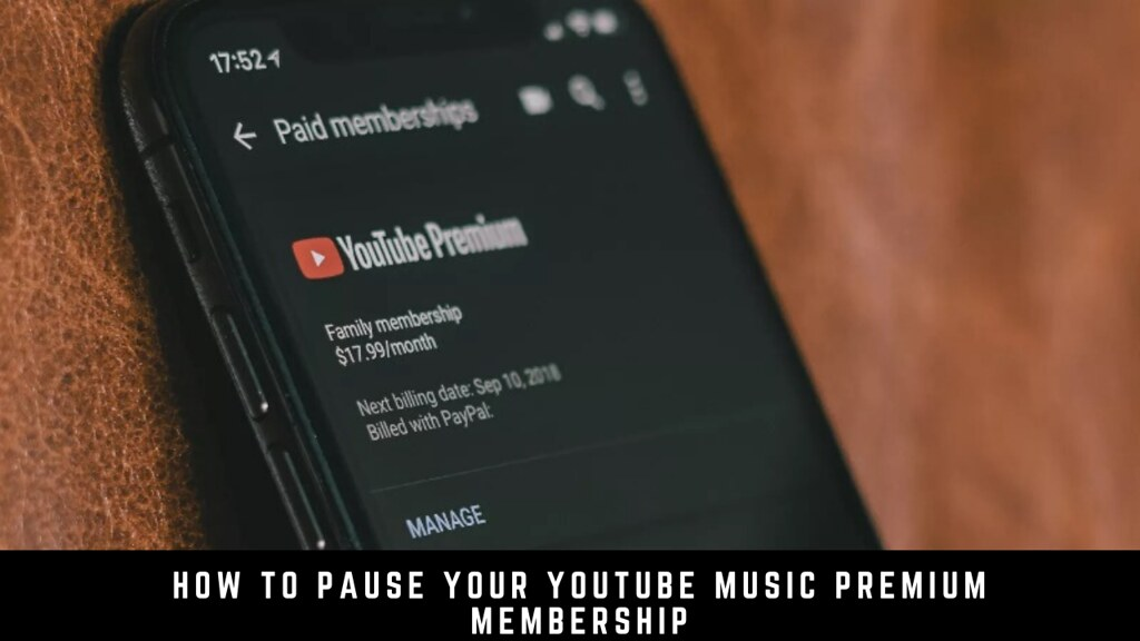 How to pause your YouTube Music Premium membership