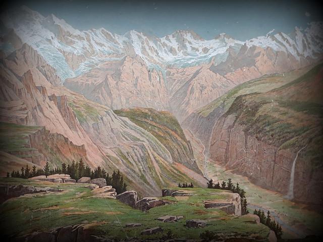 Old Schoolboard Berner Oberland, details