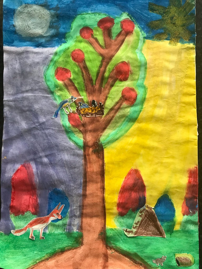 Tree wildlife art competition - winning entries