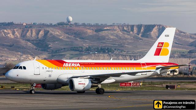Airbus A319 Iberia EC-KBX