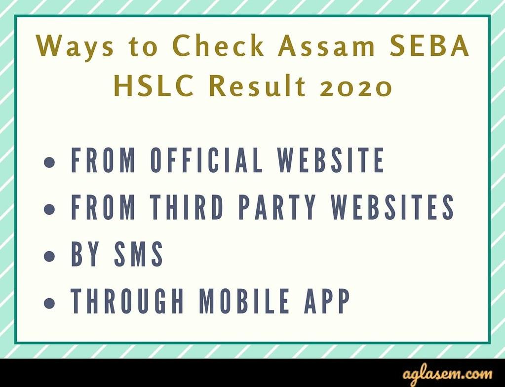 Assam HSLC Result 2020 Assam HSLC Result 2020 (Out) - Check SEBA Result 2020 at sebaonline.org