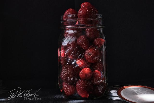 Strawberries in Mason Jar Colour2