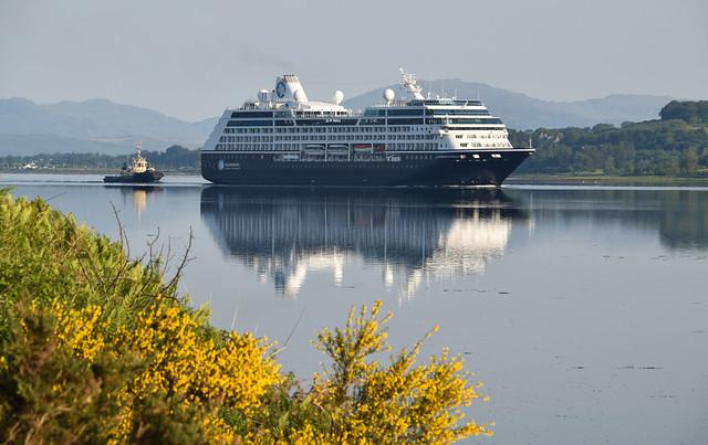 Azamara Pursuit Sailing up the Clyde