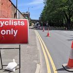 New cyclists path on Fylde Road, Preston